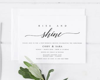 Genial Wedding Brunch Invitation Template Rise And Shine Invitation Post Wedding  Invitation Editable Wedding Brunch Invite The