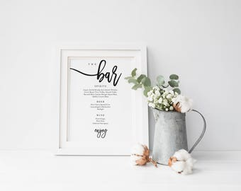 cocktail menu template word free