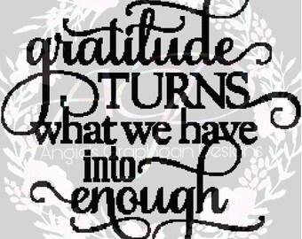 Gratitude Crochet Pattern W/ Written Instructions