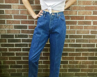 Medium Wash High Waisted Wrangler Jeans