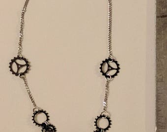 Butterfly to the Gears Necklace