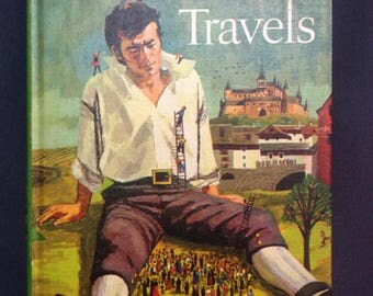 Vintage Recycled Book Journal - Gulliver's Travels