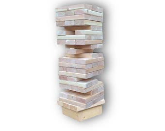 Giant Tumbling Blocks Stand | Tumble Blocks Stabilizer | Jumbo Wood Towers Table | Stacking Blocks Stand | Giant Tumble Blocks Yard Game
