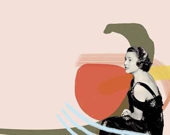 Collage Giclée Art Print (Women Series 2)