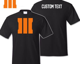 Call of Duty Black Ops 3 Logo Shirt With Custom Name Tag