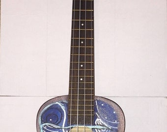 Hand Painted Ukulele- Blue Edition