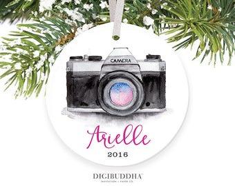 Photographer Ornament Personalized Ornament Photography Ornament Photographer Gift Custom Camera Ornament 2016 Photography Gift Shoot People