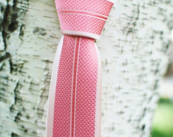 Pink Blockade Skinny Tie
