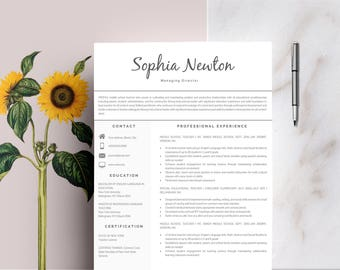 resume template modern resume resume for word cv template cover letter - Example Of Cover Letter Resume