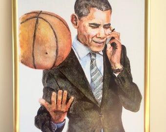 Barack Obama Watercolour Print