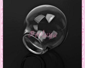 1 globe glass round 25mm REF1115