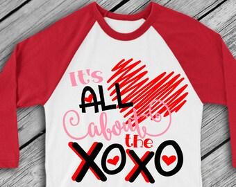 Valentine's day SVG - Valentine SVG - Heart svg - Love svg - Valentine shirt - Cupid svg - It's All About XOXO - svg - dxf - pdf - png - eps