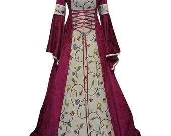 Tudor dress, renaissance dress, medieval gown, Anne boleyn, plus size available