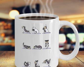 Schnauzer gifts - Schnauzer yoga - Ceramic Cozy Cup