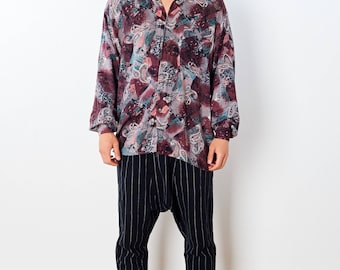 PATTERNED 90s PRINTED Pasiley 90s Vintage Shirt