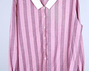 Vintage pink striped blouse