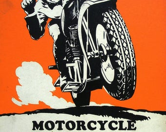 race poster retro motorcycle in A2 format.