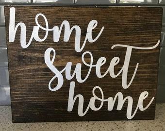 Home Sweet Home, Home Decor, Wood Sign, Farmhouse Decor, Home Sign, Home, Rustic, Rustic Decor, Office Decor, Farmhouse, Custom, Custom Sign
