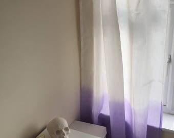 Dip Dye Pastel Purple Curtains