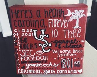 University of South Carolina Heart & Traditions Canvas