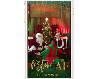 Snapchat Christmas Festive AF Snapchat Christmas Party filter, Christmas Geofilter, Green Red Gold Festive AF Snapchat Filter