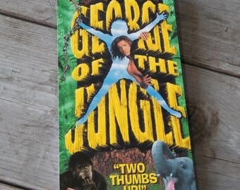 George of the Jungle VHS Notebook / Sketchbook / Grocery List / Notepad / Upcycled Notebook / Honey Do List