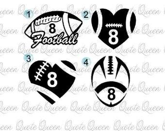 Custom Sports Decal Etsy - Football custom vinyl decals for cars