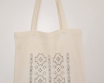Tote bag / Tote / unbleached organic cotton novelty Navajo