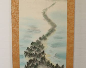Japanese Hanging Scroll: Forest / Coast Line  (Ref S1007)