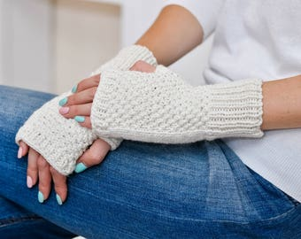 Gloves women Fingerless gloves Anniversary gift|for|wife Knitted accessories Knitted gloves Winter gloves Wool arm warmers Wedding gloves