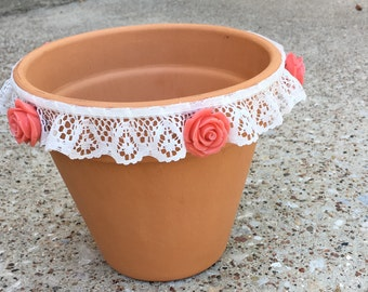 Decorative Lace Flower Pots