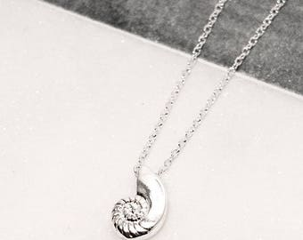 Silver Plated Ariel Seashell Necklace 10% of Purchase Donated to Ocean Conservation