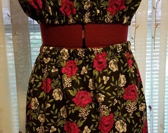Floral tube top and skirt