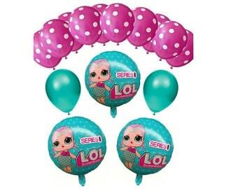 15pc LOL Surprise Doll Birthday Balloon Ensemble ~ Party Supplies Decorations ~ LOL Surprise Dolls Balloons