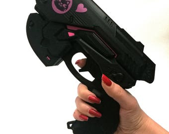 Black cat D.Va gun Overwatch cosplay weapon prop - Dva black cat skin cosplay
