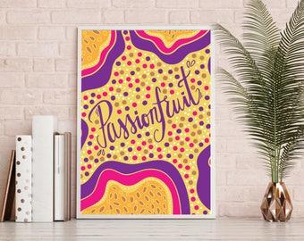 Passionfruit Print