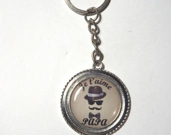 """Keychain Dad """"I love you Dad"""" / father's day gift"""
