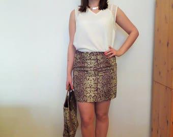 Straight skirt in wax (Ankara)