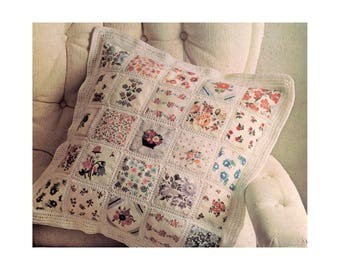 Crochet Patchwork Pillow & Comforter - Crochet Pattern