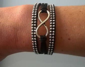 Black Suede infinity bracelet
