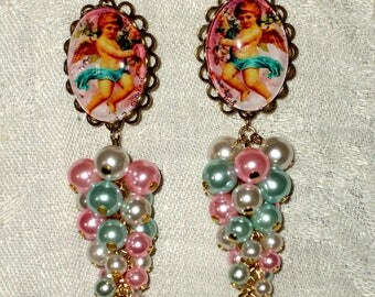 Earrings baroque spirit the Cherub