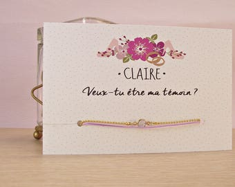 Card / request witness bracelet / ' will you be my best man?