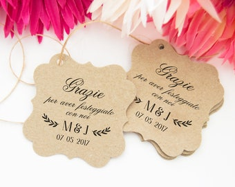 Wedding labels, Kraft Labels for Custom Tags, labels and party favors, Confetti Rustice