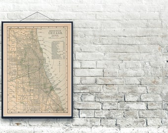 Chicago Illinois 1893 Map Fine Art Print