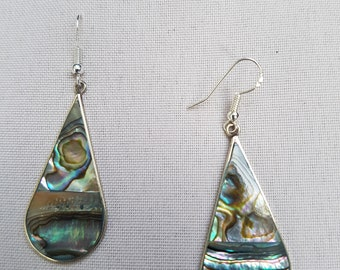 Earrings Silver 925 and mother of Pearl