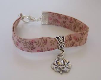 Bracelet Liberty pink, pink and patterns