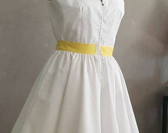 1 white and yellow dress. HAND MADE
