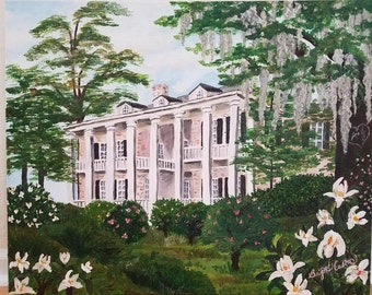 Custom Acrylic Painting Wedding Venue or Portrait