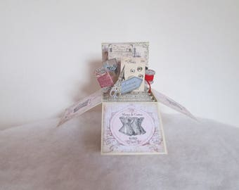 Pop up sewing card