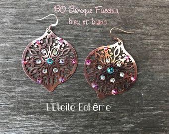Earrings rose gold Baroque BBW